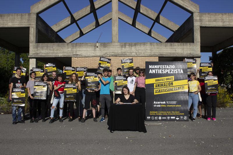 Hiltegiak ixtera goaz – Manifestazio antiespezistaren aurkezpena